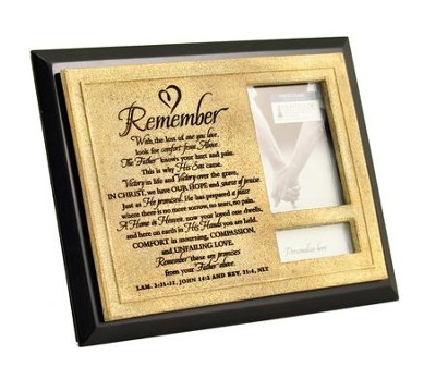 Remember Photo Frame, Black  -
