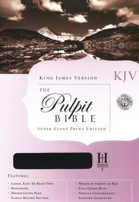 KJV Pulpit Bible, Hardcover  -