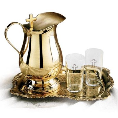 Solid Brass Water-Serving Set   -