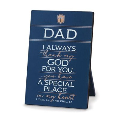 Dad, I Always Thank My God For You Plaque  -