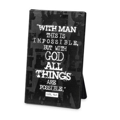 All Things Are Possible Plaque  -