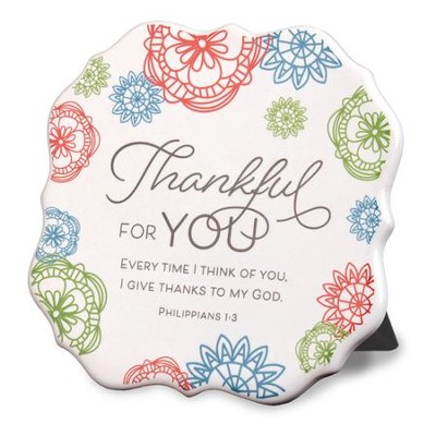 Thankful for You Plaque  -