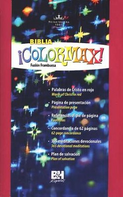 Biblia &#161Colormax! RVR 1960, Fusi&#243n Frambuesa  (RVR 1960 Colormax! Youth Bible, Hot Pink)  -