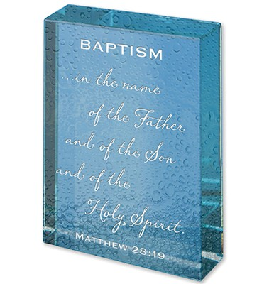 Baptism, Glass Paperweight  -