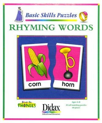 Basic Skills Puzzles: Rhyming Words   -