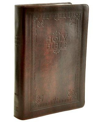 NIV Single-Column Bible, Italian Duo-Tone, Brown   -