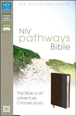 NIV Pathways Bible, Italian Duo-Tone,   Chocolate & Charcoal  -