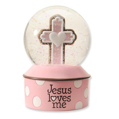Jesus Loves Me Waterglobe, Pink  -