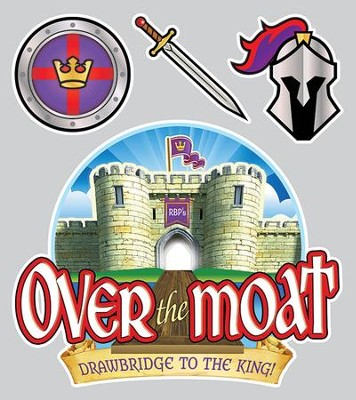 Over the Moat VBS: Iron-ons, 10 pack   -