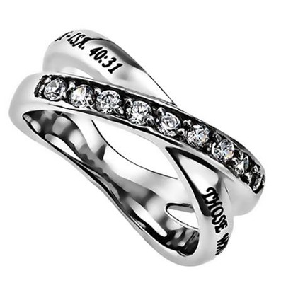 Strength Radiance Women's Ring, Size 8 (Isaiah 40:31)  -