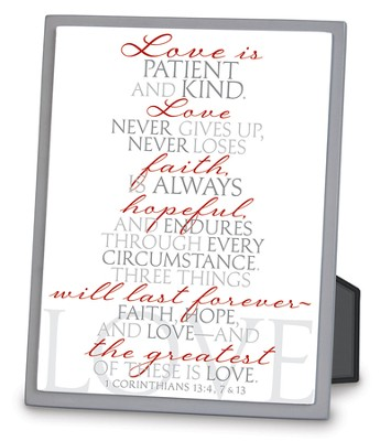 It Is Written, Love, Tabletop Plaque  -