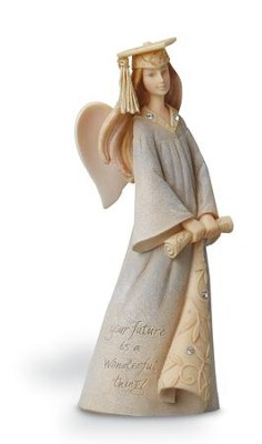 Graduation Mini Angel Figurine  -     By: Karen Hahn