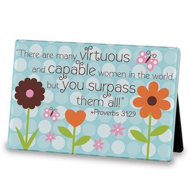 Mom, You Surpass Them All Tabletop Plaque  -