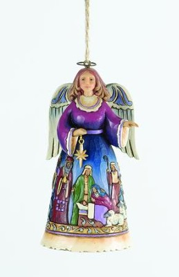Nativity Angel Ornament   -     By: Jim Shore