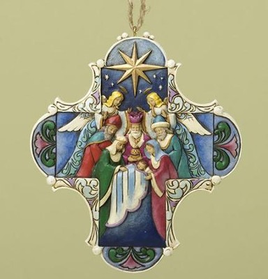 Nativity Cross Ornament   -     By: Jim Shore