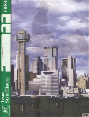 4th Edition Texas History PACE 1084 Grade 7  -