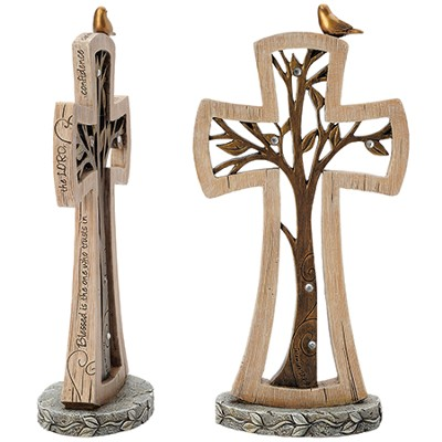 Jeremiah Tree Tabletop Cross   -     By: Kim Lawrence