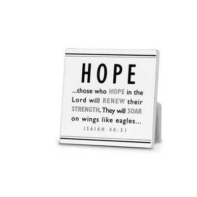 Hope Plaque, Black and White  -