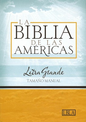LBLA Biblia Letra Grande Tamano Manual, LBLA Hand Size Giant Print Bible, Black Bonded Leather  -     By: Holman Bible Editorial Staff