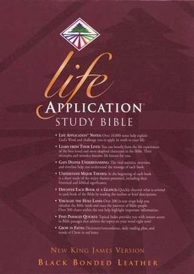 NKJV Life Application Study Bible, Bonded leather, Black   -
