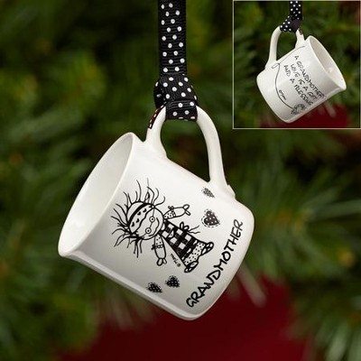 Grandmother Mini Mug Ornament  -     By: Marci