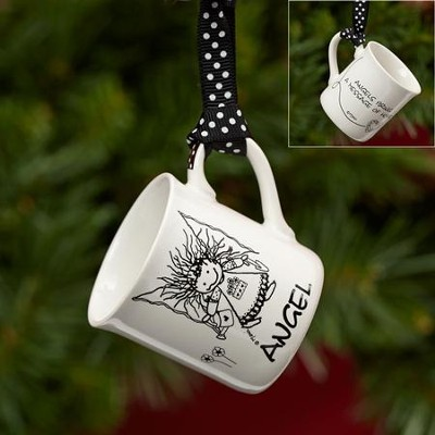 Angel Mini Mug Ornament  -     By: Marci