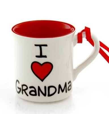 I Heart Grandma Mini Mug Ornament  -     By: Lorrie Veasey