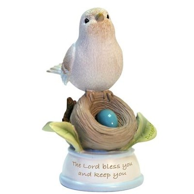 Birthstone Bird Figure, The Lord Bless and Keep You, December  -