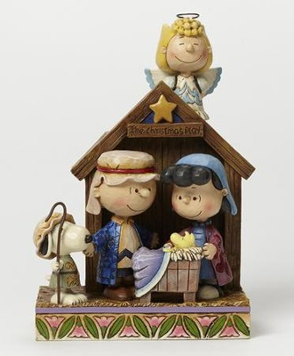 Peanuts Nativity Figurine Christmas Pageant By Jim Shore Buy Item 94 99