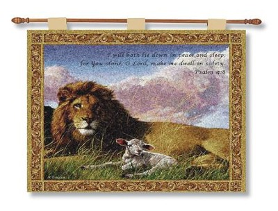 Lion and Lamb--Tapestry Wall Hanging   -
