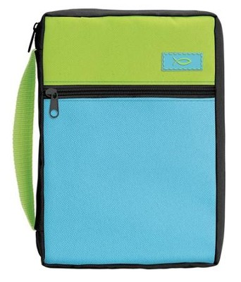 Blue & Lime Bible Cover, Medium  -
