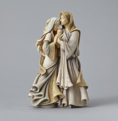 Masterpiece Holy Family Figurine  -     By: Karen Hahn