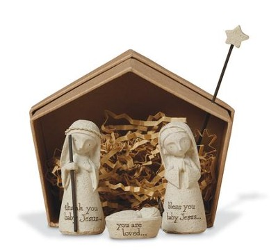Bless You Holy Family Nativity Set 3 Pieces   -     By: Karen Hahn