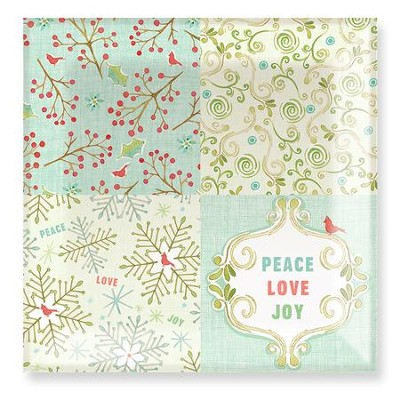 Peace, Love, Joy Square Glass Plate  -     By: Stephanie Ryan