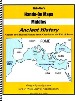 BiblioPlan's Hands-On Maps for Middles: Ancient History, Grades 2-8  -
