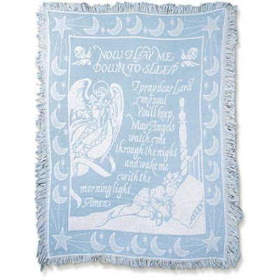 Now I Lay Me Down To Sleep, Tapestry Throw (Blue)   -