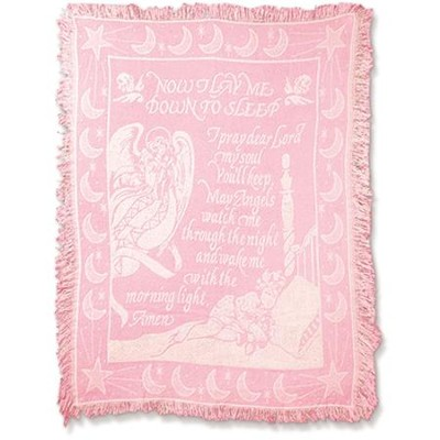 Now I Lay Me Down To Sleep, Tapestry Throw (Pink)   -