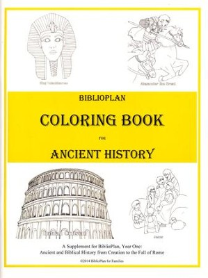 BiblioPlan Coloring Book for Ancient History   -