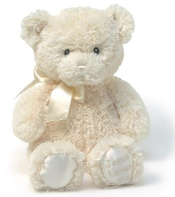 Jesus Loves Me Lullaby Teddy Bear, Cream by GUND  -