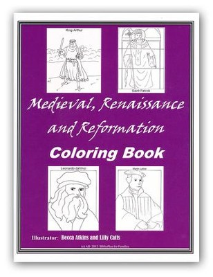 BiblioPlan Coloring Book for Medieval History   -