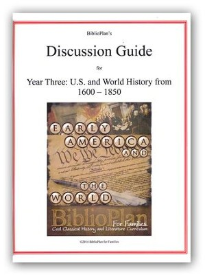 BiblioPlan Discussion Guide for Year Three: Early Modern History  -
