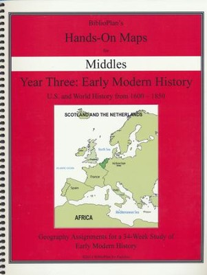 BiblioPlan's Hands-On Maps for Middles: Early Modern History, Grades 2-8  -