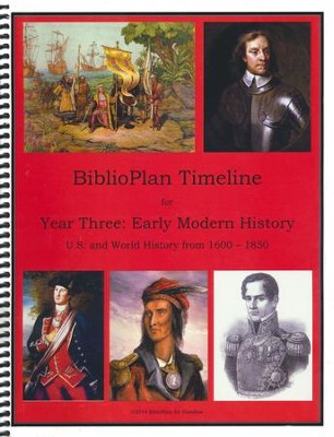 BiblioPlan Timeline for Year Three: Early Modern History  -