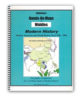 BiblioPlan's Hands-On Maps for Middles: Modern History, Grades 2-8  -