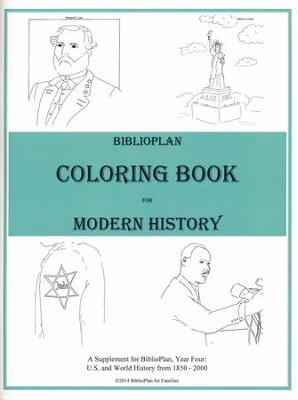 BiblioPlan Coloring Book for Modern History   -