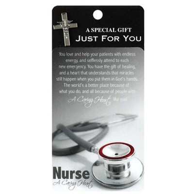Nurse A Caring Heart Lapel Pin  -