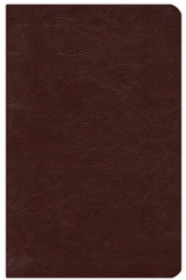 NKJV Compact UltraThin Bible, Brown Genuine Cowhide  -