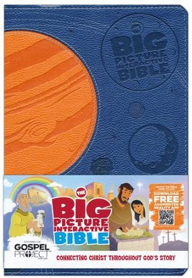 HCSB Big Picture Interactive Bible: Connecting Christ Throughout God's Story, Blue & Orange Imitation Leather  -