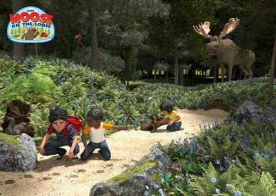 Camp Moose on the Loose: Theme Backdrop  -