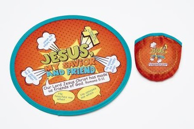 Jesus, My Savior and Friend, Flying Disk & Nylon Pouch  -